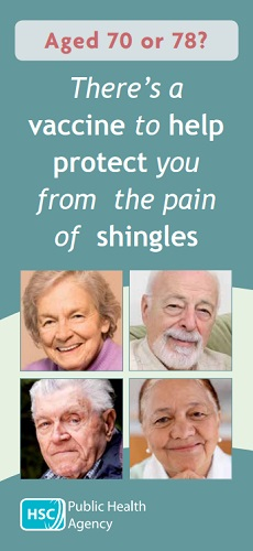SHINGLES VACCINE Aged 70 or 79 (July 19)