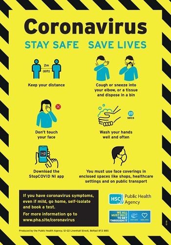 COVID-19 (coronavirus) Stay safe, save lives poster